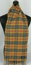 BURBERRY SCARF 100% LAMBSWOOL FOR MEN AND WOMEN MADE IN ENGLAND BEIGE