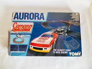 AURORA TOMY CAMARO CHALLENGE SLOT CAR SET 1986