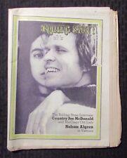 1971 ROLLING STONE Magazine #83 FN- 5.5 Country Joe McDonald - Vietnam