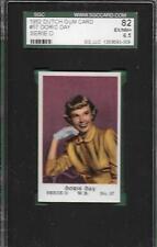 1952 DUTCH GUM CARD 57 DORIS DAY HOF WB SERIE D SGC 82 / 6.5 HIGHEST GRADED ABC