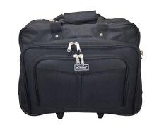 Maleta porta ordenador de 2 ruedas negro de 4 compartimentos maleta de comercial