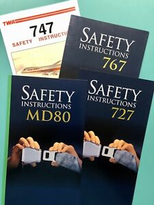 4 TWA SAFETY CARDS