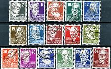 Germany Soviet Zone Issues of 1948 Complete Set of 16 Used Scotts 10N29 to 10N44