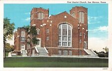 1940's? First Baptist Church San Marcos TX post card