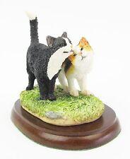"""Cat Figurine, Blk & White & Tortie Cat """"Friendship"""" BFA A27560 James Herriot"""