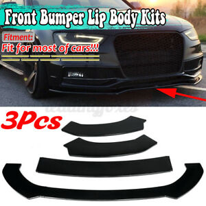 Glossy Front Bumper Body Kit Splitter Lip For AUDI A3 A4 A5 S3 S4 S5 RS5 S-line