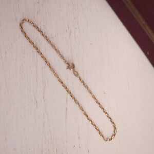 9 ct 375 yellow gold belcher anklet chain