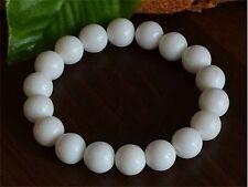 "Long Stretchy 24 8mm Deep Sea Tridacna Prayer Beads Wrist Mala Bracelet -7"""