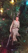 "Rey Ornament OOAK Star Wars Force Awakens Disney 3"" Custom Christmas"