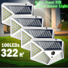100Leds Solar Wall Light Fixtures Lamp With Motion Sensor Outdoor Garden Walkway