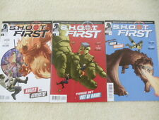 Lot of 3 comics S.H.O.O.T. First #1-3 Dark Horse angel athiest robot dragon VF