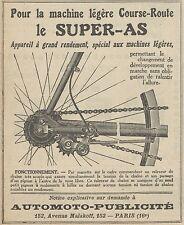 Z9791 Appareil le SUPER-AS -  Pubblicità d'epoca - 1923 Old advertising