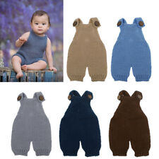 Newborn Photography Props Soft Boy Baby Girl Costume Knitted Romper Outfit Props