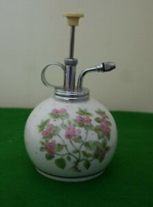 PRETTY VINTAGE GREY WITH PINK FLOWERS CERAMIC PLANT MISTER – VGC