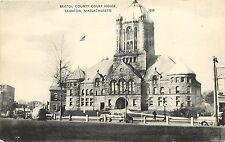 Vintage Postcard Bristol County Courthouse Taunton MA Massachusetts