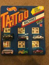 1993 Hot Wheels TATTOO MACHINES 6-Pack - Large Display Rare