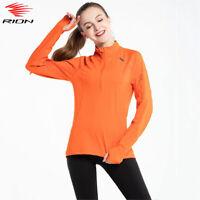 Yoga-T-Shirts Frauen Laufjacken-Oberteile Fitness-Sport-T-Shirts Halb-zip