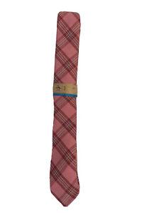 penguin original plaid pink skinny mens neck tie