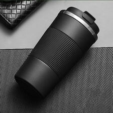 510ml Double Stainless Steel Coffee Cup Thermos Mug with Non-slip Case Black