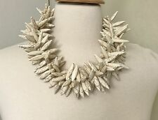 Stunning Gerda Lynggaard Monies Style Modernistic White Turquoise Necklace