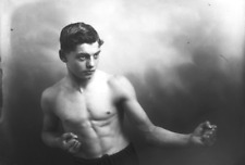 """1912 Young French Boxer Poses for Camera, Vintage Old Photo 4"""" x 6"""" Reprint"""