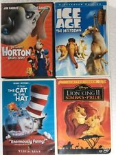 Lot of 24 children's DVDs Dr. Seuss Cat In The Hat Ice Age Lion king SpongeBob