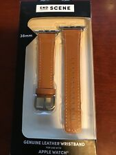 End Scene Caramel Leather Watch Band For Apple 38mm Watches NEW