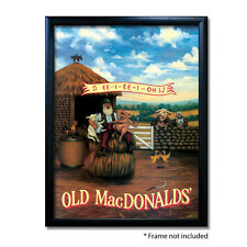 OLD MACDONALDS PUB SIGN POSTER PRINT | Home Bar | Man Cave | Pub Memorabilia