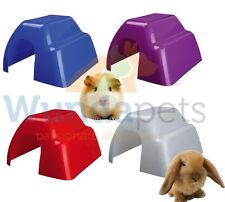 TRIXIE PLASTIC LARGE GUINEA PIG DWARF RABBIT CAGE HUTCH HIDE HOUSE 4 CLR 61343