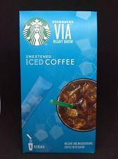STARBUCKS VIA READY BREW SWEETENED ICED COFFEE  5 STICKSx12.8g.