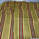 Waverly+curtain+panel+set+10+color+tan+gold+reds+greens+striped+rod+loops+