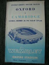 1964 Oxford v Cambridge / Inter-Varsity Football Match