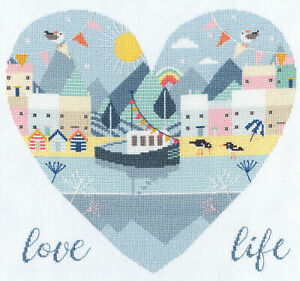 Bothy Threads Love Life Counted Cross Stitch Kit