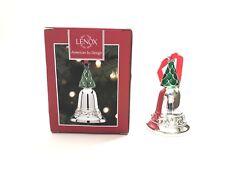 Lenox Figural Enameled Christmas Tree Silver Bell Ornament