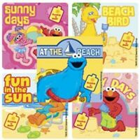 Lot of 10 Sesame Street Beach Stickers - Party Loot Bags, Craft & Cards