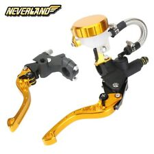 Gold Short 7/8'' Brake Clutch Levers Master Cylinder Reservoir For Suzuki Yamaha