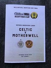 Motherwell v Celtic SCOTTISH CUP FINAL 2018 19th May MINT Match Menu Superb