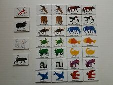 ERIC CARLE Game Pieces Replacement MINI PICTURE CARDBOARD CARDS colors animals