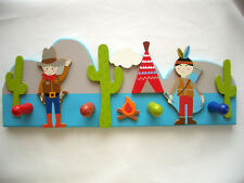 *GISELA GRAHAM*for kids*Kinder*Wand -Garderobe*Cowboy &Indianer*