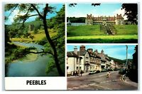 Picture Postcard Peebles Scotland 3 views posted 1987