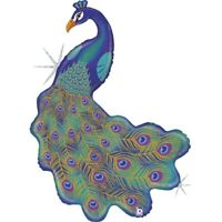 Pavo Real Forma Varios Colores Purpurina Globo, Mejor para Niños Fiestas Y Event