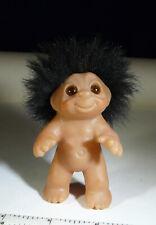 Norfin Troll Dam Vintage 1985 Black HAIR Amber eyes Rare