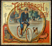 Vintage Game of the Telegraph Boy McLouchlin Bro. 1888 Western Union