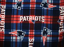 2-NFL NEW ENGLAND PATRIOTS KING FLEECE PILLOW CASES/BLUE FLEECE BACK