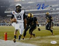 Keenan Reynolds Autographed Navy Midshipmen 8x10 Against Army Photo- JSA W Auth