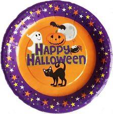 """10 PIASTRE Happy Halloween festa 7"""" 17cm KID Cibo Torta dessert snack tabella Ware"""