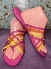 Size 10 | Crocs Women's Shoe Huarache Flip Flop Thong Sandal Pink