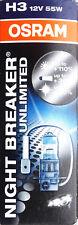 Osram 64151 NBU Halogen H3 12V 55W 453nbu PK22s Night Breaker Unlimited
