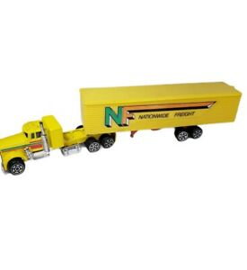 Vintage Kidco Kenworth Semi With Nationwide Freight Yellow Hong Kong 1/64