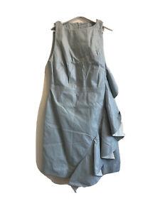 Karen Millen Women 100% Leather Turquoise Dress Size 10